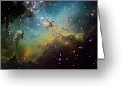 Interstellar Clouds Photo Greeting Cards - M16 The Eagle Nebula Greeting Card by Ken Crawford
