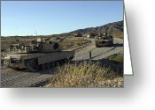 Battle Tanks Greeting Cards - M1a1 Abrams Main Battle Tanks Greeting Card by Stocktrek Images