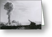 Grable Greeting Cards - M65 Atomic Cannon Greeting Card by Science Source