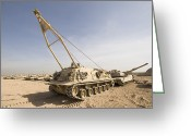 Iraq Greeting Cards - M88 Recovery Vehicle At Camp Warhorse Greeting Card by Terry Moore