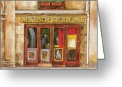 Barista Greeting Cards - Ma Bourgogne Greeting Card by Debbie DeWitt