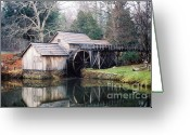 Most Photographed Photo Greeting Cards - Mabry Mill Greeting Card by Shannon Slaydon