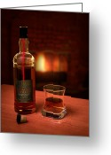 Fire Greeting Cards - Macallan 1973 Greeting Card by Adam Romanowicz