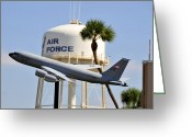 Tanker Greeting Cards - MacDill Air Force Base Greeting Card by David Lee Thompson