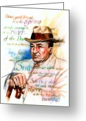 Spaniards Greeting Cards - Machado Greeting Card by Ken Meyer jr