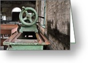 Roundhouse Greeting Cards - Machinery2 Greeting Card by Steven  Michael