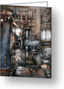 Oldfashioned Greeting Cards - Machinist - My really cool job Greeting Card by Mike Savad