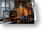 Chest Greeting Cards - Machinist - My Workstation Greeting Card by Mike Savad