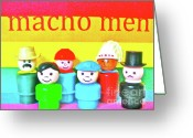 Fisher Price Little People Greeting Cards - Macho Men Greeting Card by Ricky Sencion