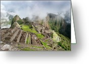 Ancient Civilization Greeting Cards - Machu Picchu Greeting Card by Blake Burton
