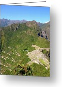 Ancient Civilization Greeting Cards - Machu Picchu Greeting Card by Cute Kitten Images