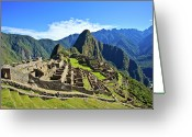 Famous Greeting Cards - Machu Picchu Greeting Card by Kelly Cheng Travel Photography
