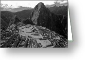 Archaeology Greeting Cards - Machu Pichu - Peru Greeting Card by John Battaglino