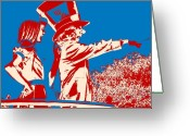 Mad Hatter Digital Art Greeting Cards - Mad as a Hatter Greeting Card by Sharon Cross
