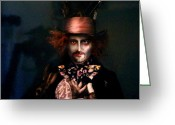 Mad Hatter Digital Art Greeting Cards - Mad Hatter Greeting Card by Alessandro Della Pietra