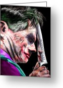 Republican Painting Greeting Cards - Mad Men Series 2 of 6 - Romney the Joker Greeting Card by Reggie Duffie