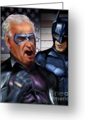 Batman Greeting Cards - Mad Men Series 3 of 6 - Obama and Biden Greeting Card by Reggie Duffie