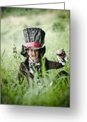 Mad Hatter Digital Art Greeting Cards - Mad Tea Greeting Card by MrsRedhead Olga