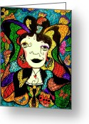 Madame Butterfly Greeting Cards - Madame Butterfly Greeting Card by Natalie Holland