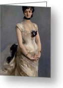 Ball Gown Painting Greeting Cards - Madame Paul Poirson Greeting Card by John Singer Sargent