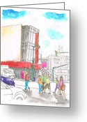 Los Angeles Painting Greeting Cards - Madame-Tussauds-Hollywood-CA Greeting Card by Carlos G Groppa