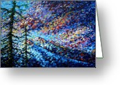 Upbeat Greeting Cards - MADART Mountain Glory Greeting Card by Megan Duncanson