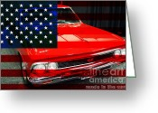 Chevrolet Chevelle Greeting Cards - Made In The USA . 1966 Chevy Chevelle SS 396 Greeting Card by Wingsdomain Art and Photography