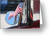 Spangled Greeting Cards - Made in the USA Greeting Card by Kelly Mezzapelle