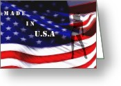 National Digital Art Greeting Cards - Made in USA Greeting Card by Stefan Kuhn
