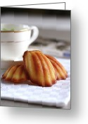 Cup Photo Greeting Cards - Madeleines With Tea Greeting Card by Lulu Durand Photography