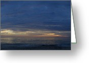 Gloaming Greeting Cards - Madiera Beach Panorama Greeting Card by T C Creations