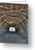 Clint Eastwood Greeting Cards - Madison County Bridge Greeting Card by David Bearden