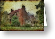 Rural Decay  Digital Art Greeting Cards - Madison Heights Mansion Greeting Card by Sari Sauls