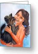 Carol Allen Anfinsen Greeting Cards - Madison Morgan Greeting Card by Carol Allen Anfinsen