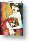 Albena Greeting Cards - Madona Greeting Card by Albena