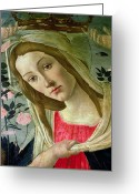 Little Boy Greeting Cards - Madonna and Child Crowned by Angels Greeting Card by Sandro Botticelli