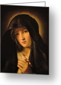 Mother Greeting Cards - Madonna Greeting Card by Il Sassoferrato