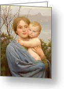 Christ Child Greeting Cards - Madonna of the Mount  Greeting Card by Thomas Cooper Gotch