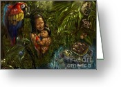 Madre Greeting Cards - Madre Terra Greeting Card by Consuelo Venturi