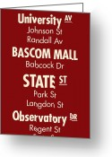 Babcock Greeting Cards - Madtown Streets Greeting Card by Geoff Strehlow