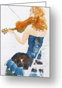 South Seas Greeting Cards - Magdalena On Viola Greeting Card by Pat Katz