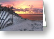 Good Morning Greeting Cards - Magenta Sunrise Greeting Card by Vicki Jauron