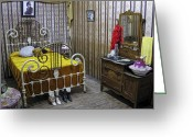 Damn Greeting Cards - Maggie Halls Victorian Bedroom - Murray Idaho Greeting Card by Daniel Hagerman