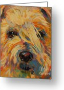 Apricot Painting Greeting Cards - Maggie Greeting Card by Kimberly Santini