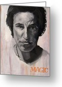 Springsteen Painting Greeting Cards - Magic - Bruce Springsteen Greeting Card by Khairzul MG