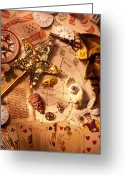 Compass Greeting Cards - Magic and mysticism  Greeting Card by Garry Gay