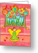 Childsroom Greeting Cards - Magic Angel Greeting Card by Sonja Mengkowski