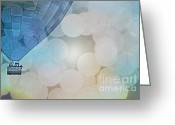 Baby Room Greeting Cards - Magic Blue Sky Balloon Greeting Card by Andrea Hazel Ihlefeld