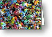 Color  Colorful Sculpture Greeting Cards - Magic  Colors  Sculpture  Nineteen  Ninety  Nine Greeting Card by Carl Deaville