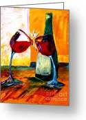 Cheers Greeting Cards - Magic Greeting Card by Julie Lueders 